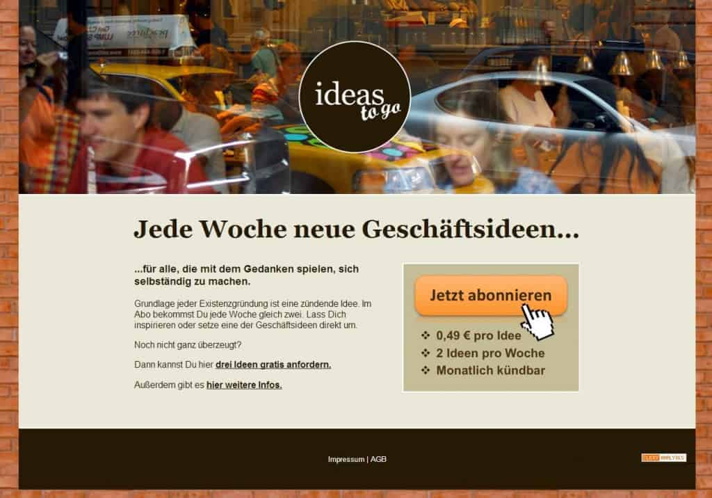 Website von ideas-to-go.de